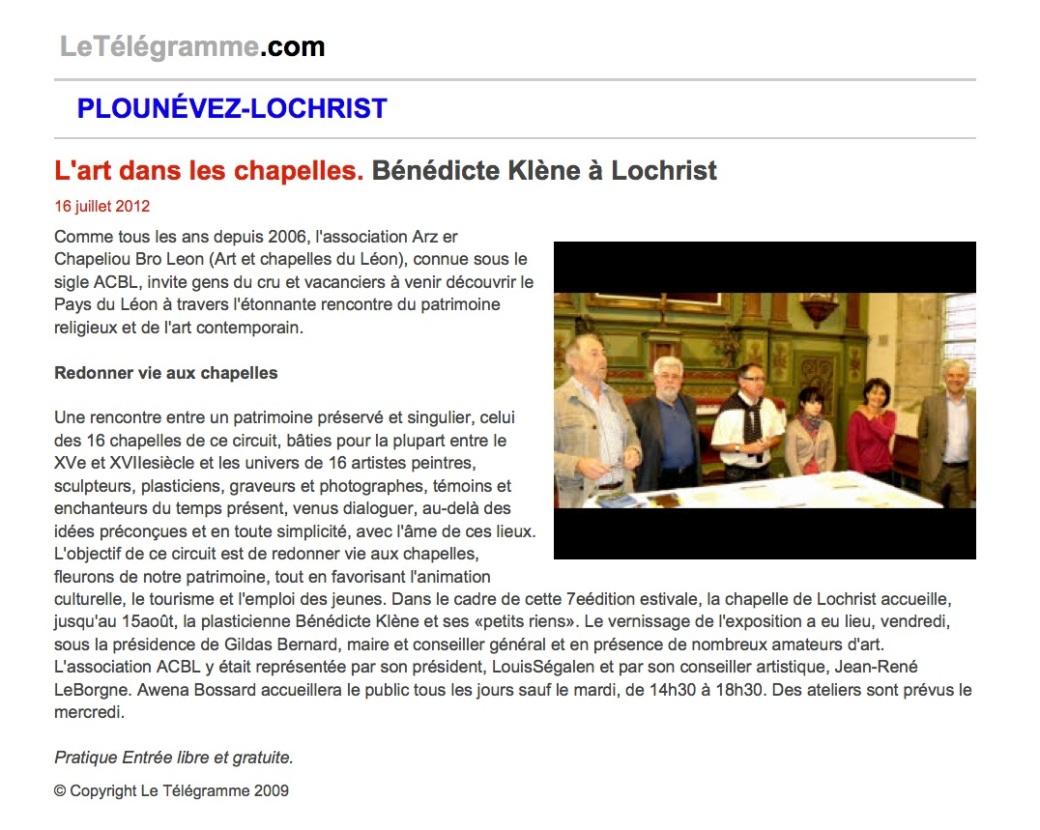 Ouest France 16 Juillet 2012