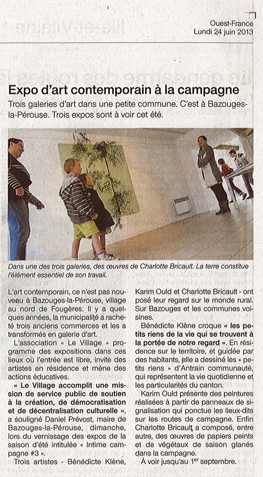Ouest France 24 Juin 2013
