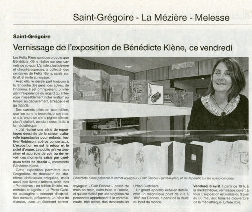 OuestFrance 3 avril 2015 - WEB