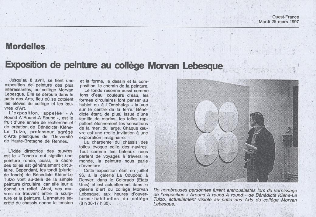Ouest France 25 mars 1997