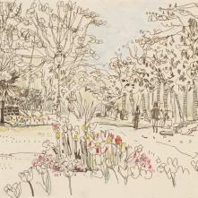 Les Petits Riens de Rennes. Vue du jardin du Thabor. Texte de Marie Micheline Louis