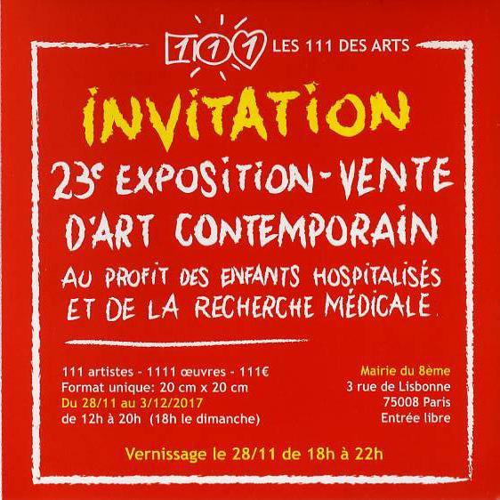 invitation 111 des arts -2017