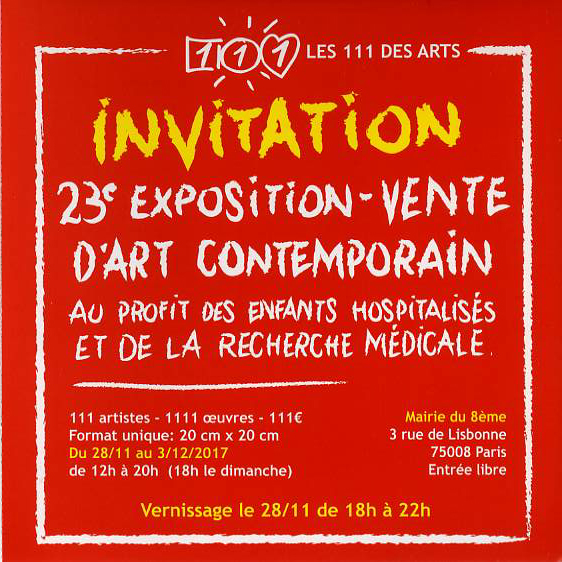 invitation 111 des arts -2017