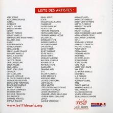 Liste artistes 111 des arts -2017