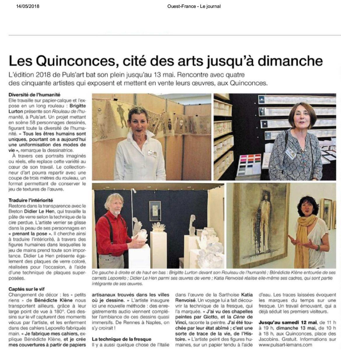 Kiosque Ouest-France - edition de Sa rthe du vendredi 11 mai 2018-001