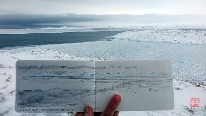 Les Petits Riens du Groenland © ADAGP Bénédicte Klène. Résidence Artistes en Arctique 2019