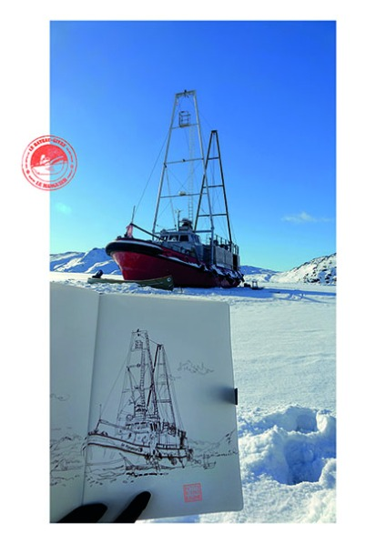Les Petits Riens © ADAGP / Bénédicte Klène. Résidence Artistes en Arctique 2019