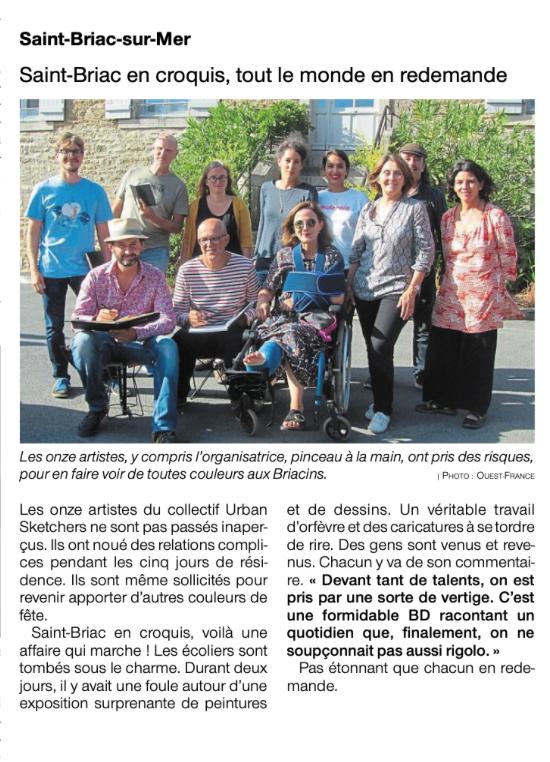 Ouest France St Briac 2019-09-25