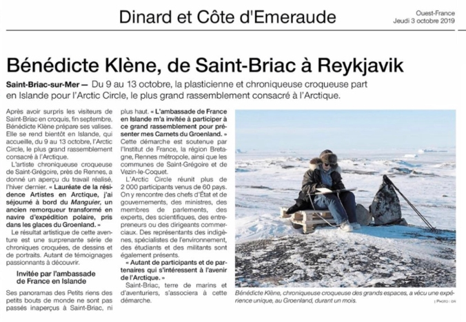Eric Bourret © Résidence Artistes en Arctique 2019